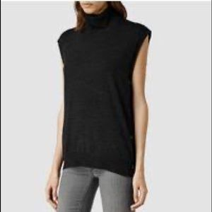 AllSaints Merino Alna Funnel Neck Sweater